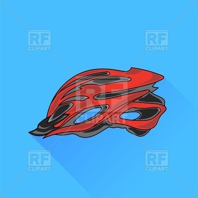 400x400 Red Bike Helmet Flat Icon Royalty Free Vector Clip Art Image
