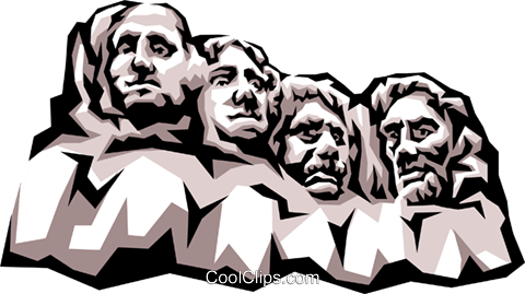 480x269 Mount Rushmore Royalty Free Vector Clip Art Illustration Arch0301
