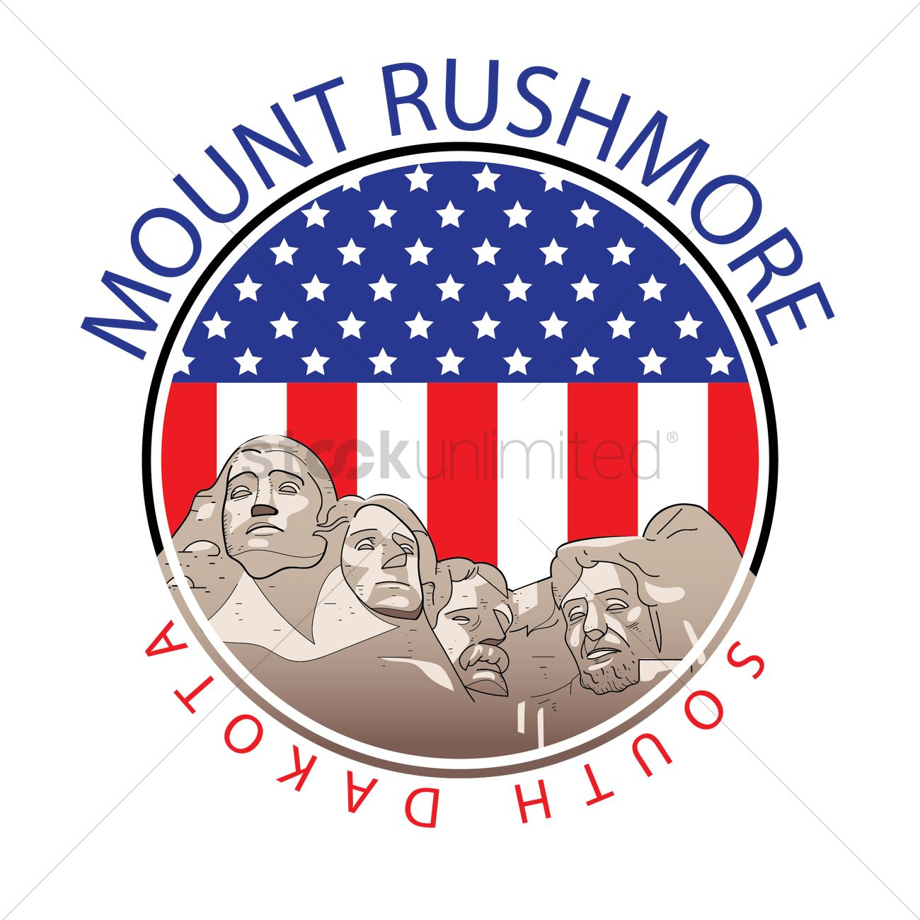 1300x1300 Mount Rushmore Vector Image