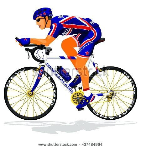 450x470 Cyclist Clip Art Cyclist On Mountain Bike Vector Silhouette Water