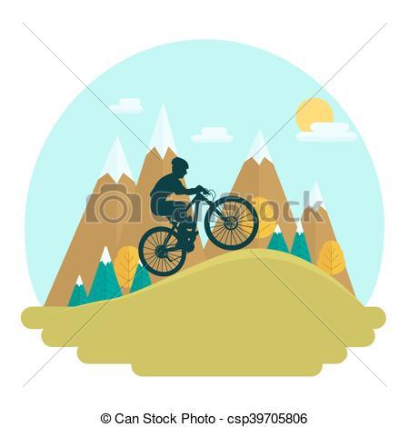 450x470 Female Mountain Bike Rider On Scenic High Peaks Background. Cross
