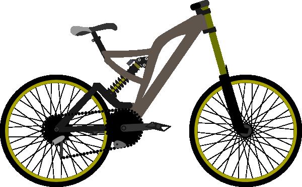 600x373 Mountain Bike Clip Art Free Vector 4vector