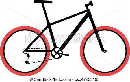 450x283 Simplified Flat Mountain Bike Design, Vector Illustration . Eps