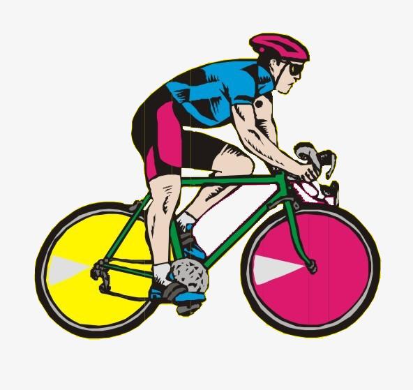 592x559 Cartoon Mountain Bike Race, Mountain Bike, Game, Bicycle Png Image