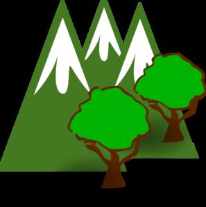 297x299 Mountain Forest Clip Art