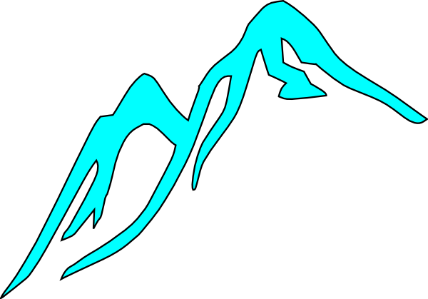 600x419 Mountain Tops Covered With Ice Clip Art