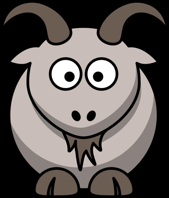 682x800 Free Clipart Cartoon Goat Animals Cartoon Animals