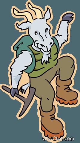 268x480 Mountain Goat Royalty Free Vector Clip Art Illustration Vc008813