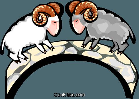 480x342 Mountain Goats Rams Royalty Free Vector Clip Art Illustration