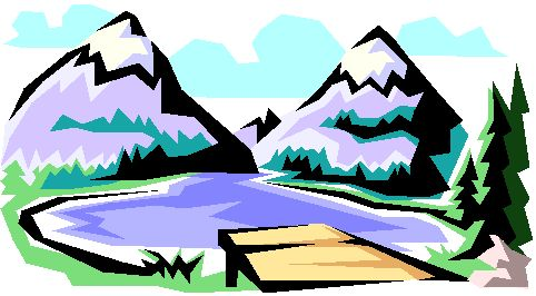 Mountain Landscape Clipart