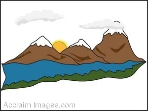 300x224 Snow Capped Mountains Clipart