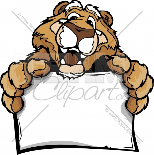586x590 Happy Cougar Clipart Cartoon Image. Easy To Edit Vector Format.