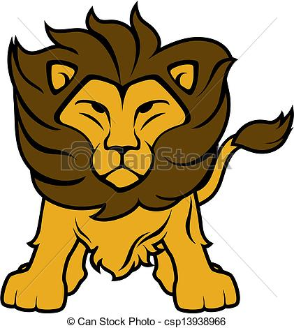 421x470 Lion Clipart. Illustration Of Lion Front View Isolated On Clip