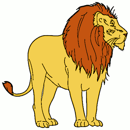 427x428 Mountain Lion Clipart Yellow Lion