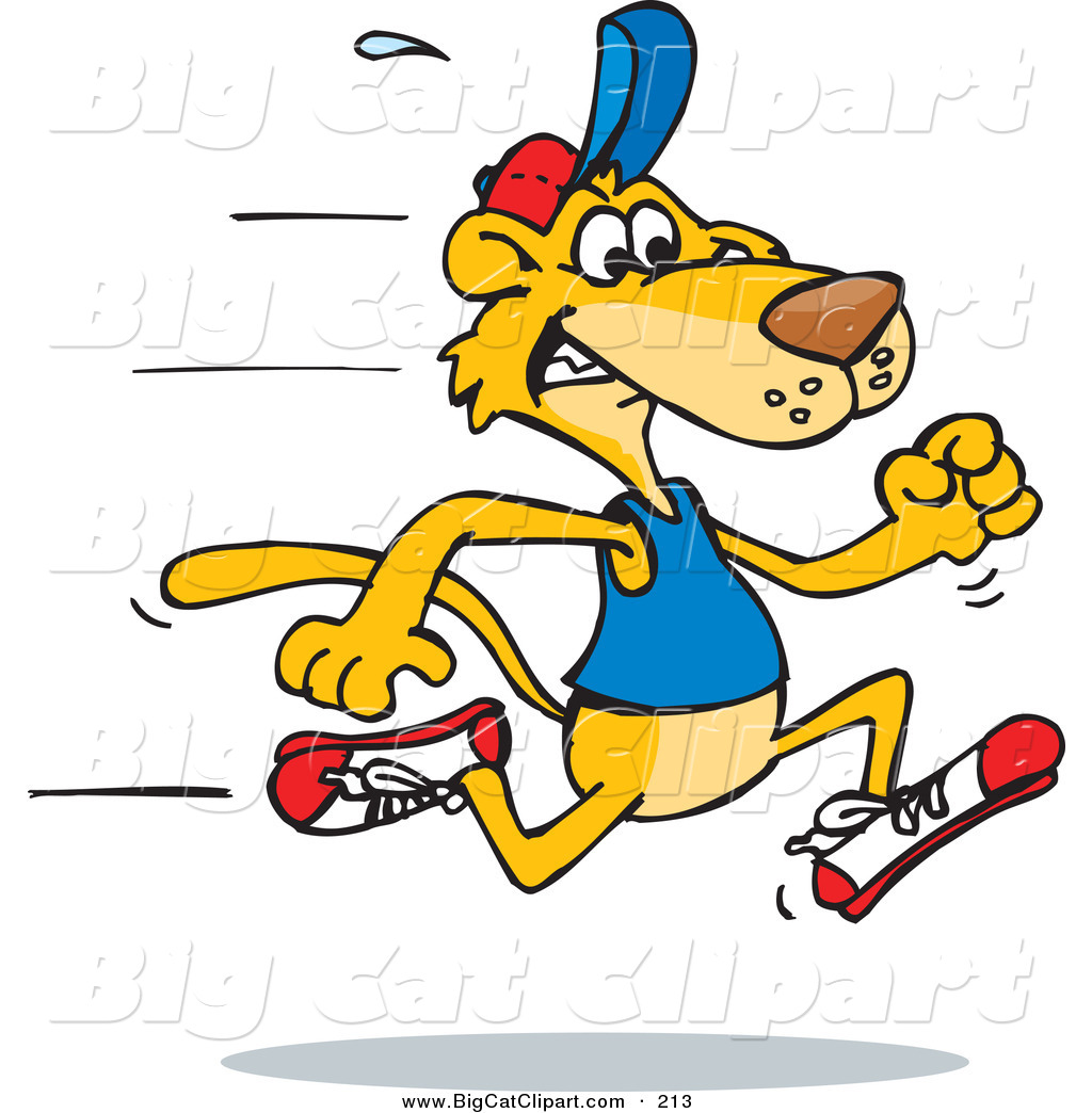 1024x1044 Big Cat Vector Clipart Of A Fast Mountain Lion Running To