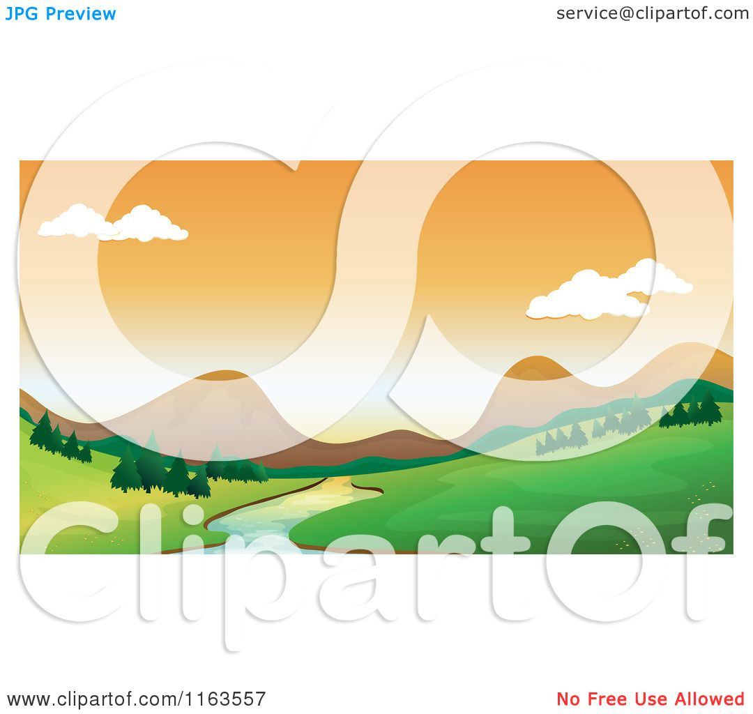 Mountain Scenery Clipart