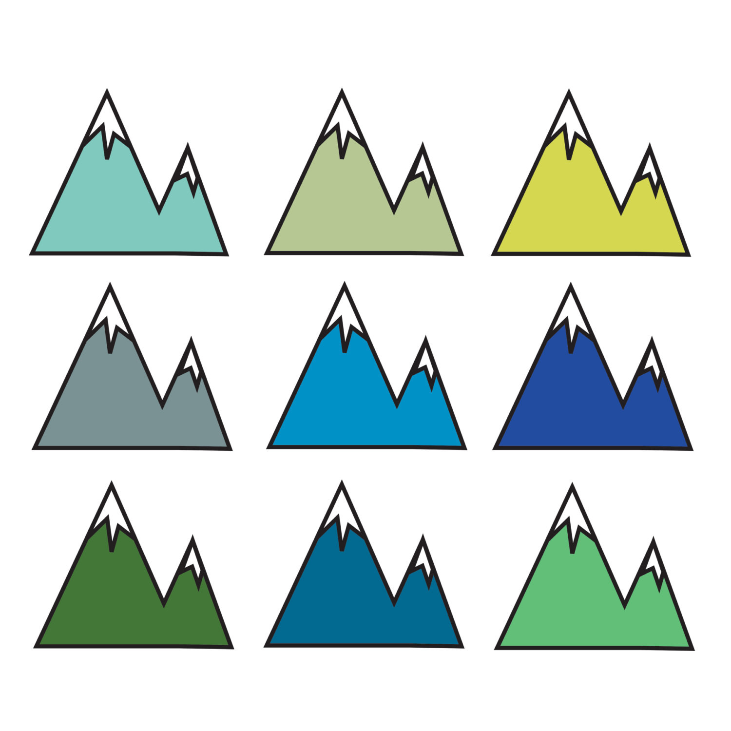 1500x1500 Clipart Of Mountain transitionsfv