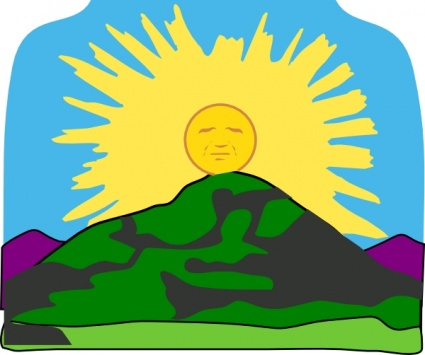 425x355 Free download of Sun Rays Mountain clip art Vector Graphic
