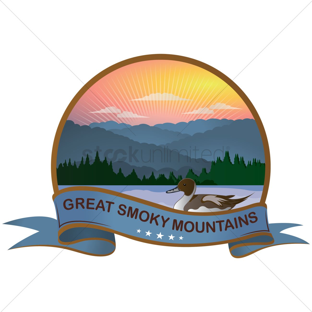 1300x1300 Great Smoky Mountains Vector Image