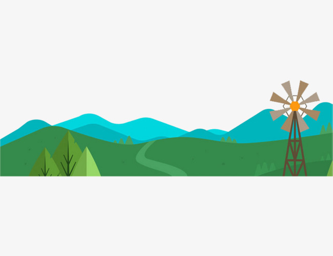 650x501 Hillside Scenery, Blue, Windmill, Blade Png Image And Clipart