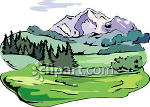 300x214 Mountain Forest Clipart
