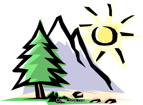 480x352 Mountain Scene Royalty Free Vector Clip Art Illustration Natu0156