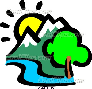 300x290 Mountains With The Sun And Vector Clip Art