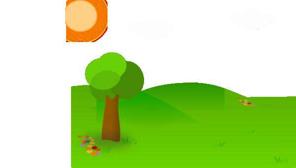 600x340 Nice Landscape Cartoon Clip Art