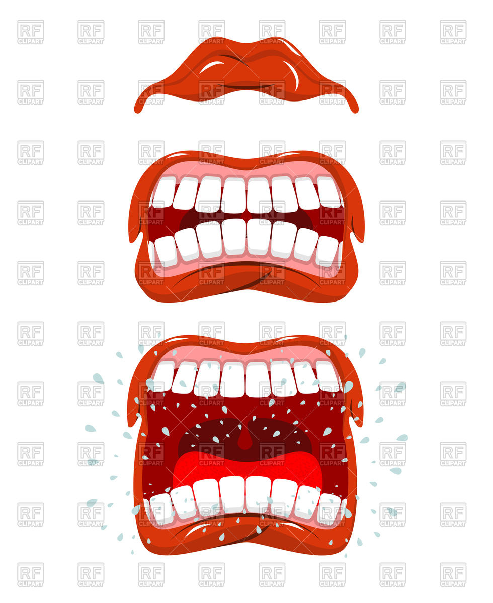 980x1200 Angry Lips Emotions Royalty Free Vector Clip Art Image