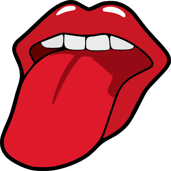 594x595 Tongue And Mouth Clipart