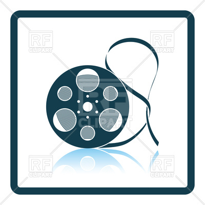 400x400 Icon Of Old Movie Reel Royalty Free Vector Clip Art Image