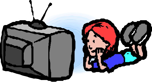 532x288 Watching Tv Clipart