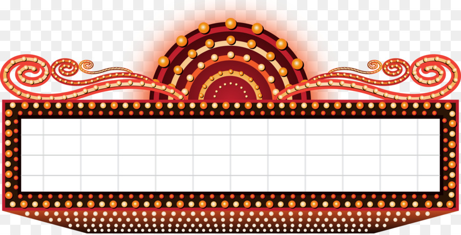 900x460 Cinema Marquee Royalty Free Clip Art