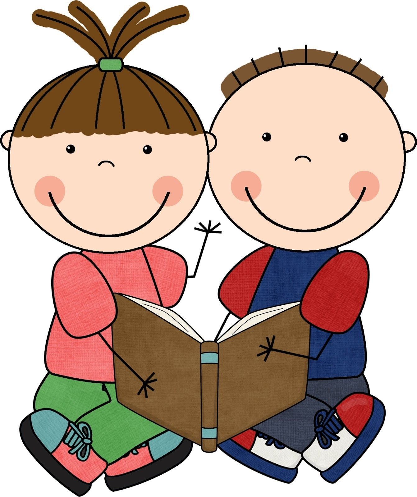 1342x1600 Children Reading And Writing Clipart