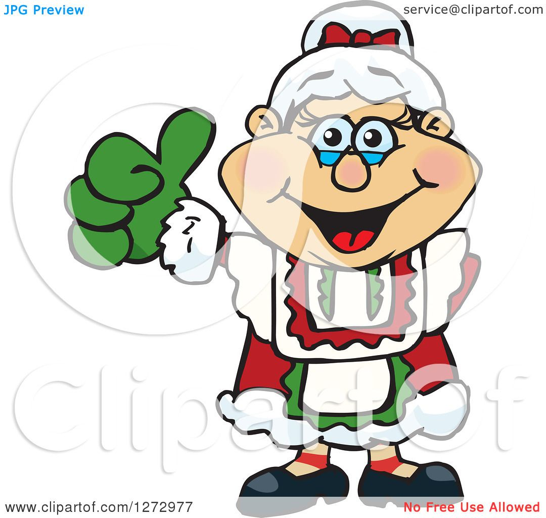 1080x1024 Clipart Of A Happy Mrs Claus Giving A Thumb Up