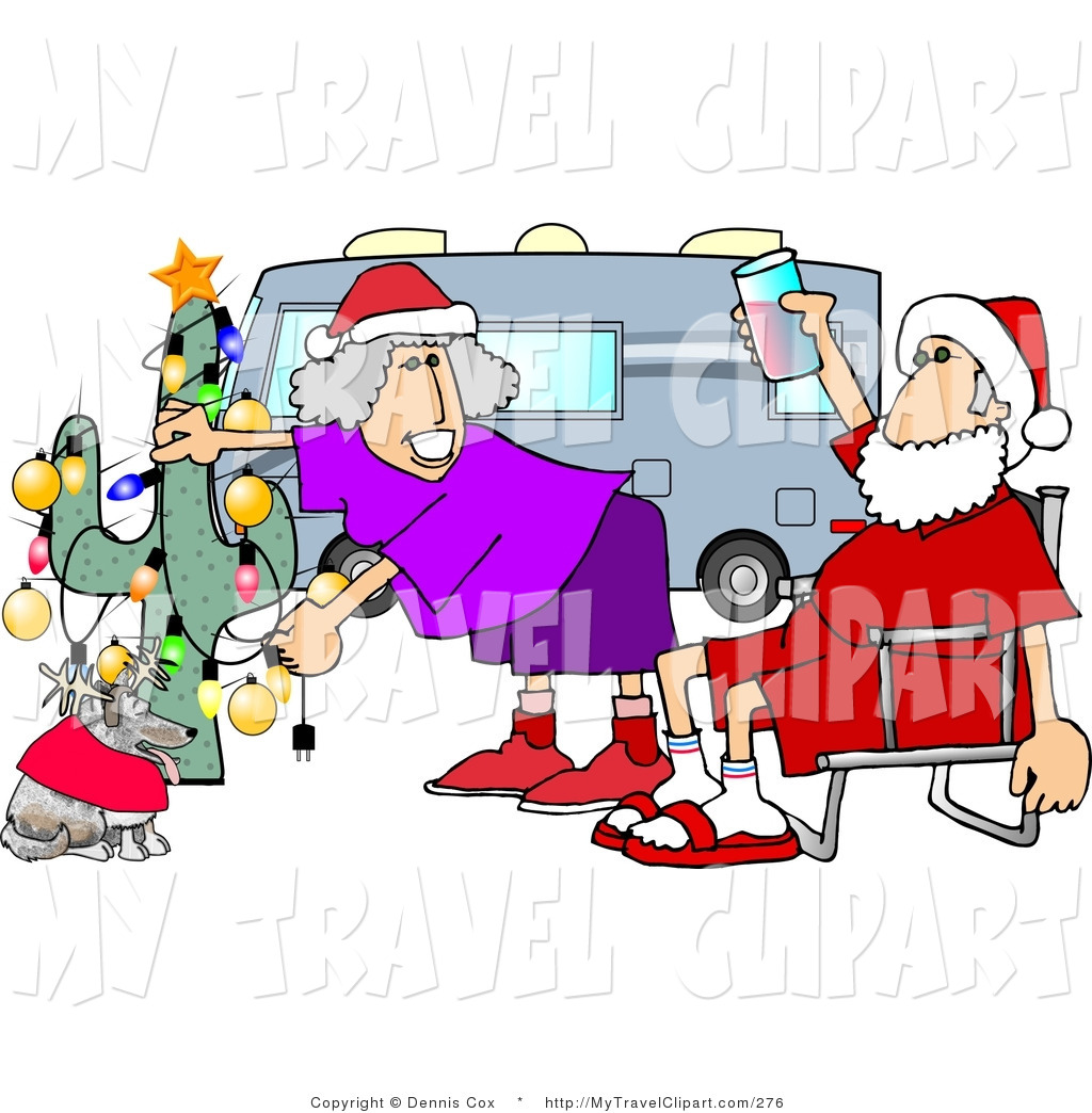 1024x1044 Clipart Of A Redneck Mr. And Mrs. Santa Claus Celebrating