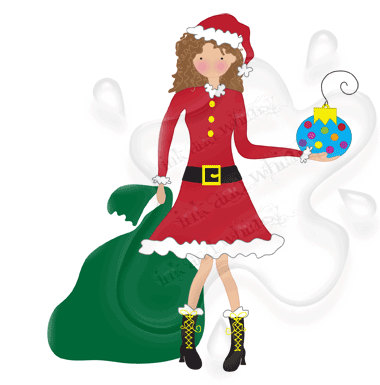 380x385 Christmas Mrs. Claus Clipart