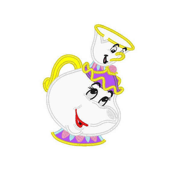 570x570 Beauty And The Beast Mrs Potts And Chip Applique Machine