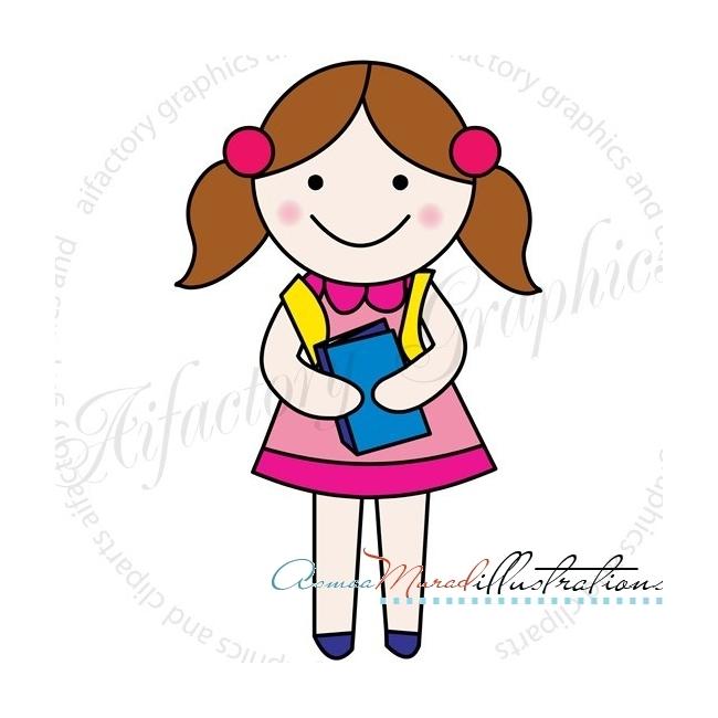 650x650 Clipart Girl School