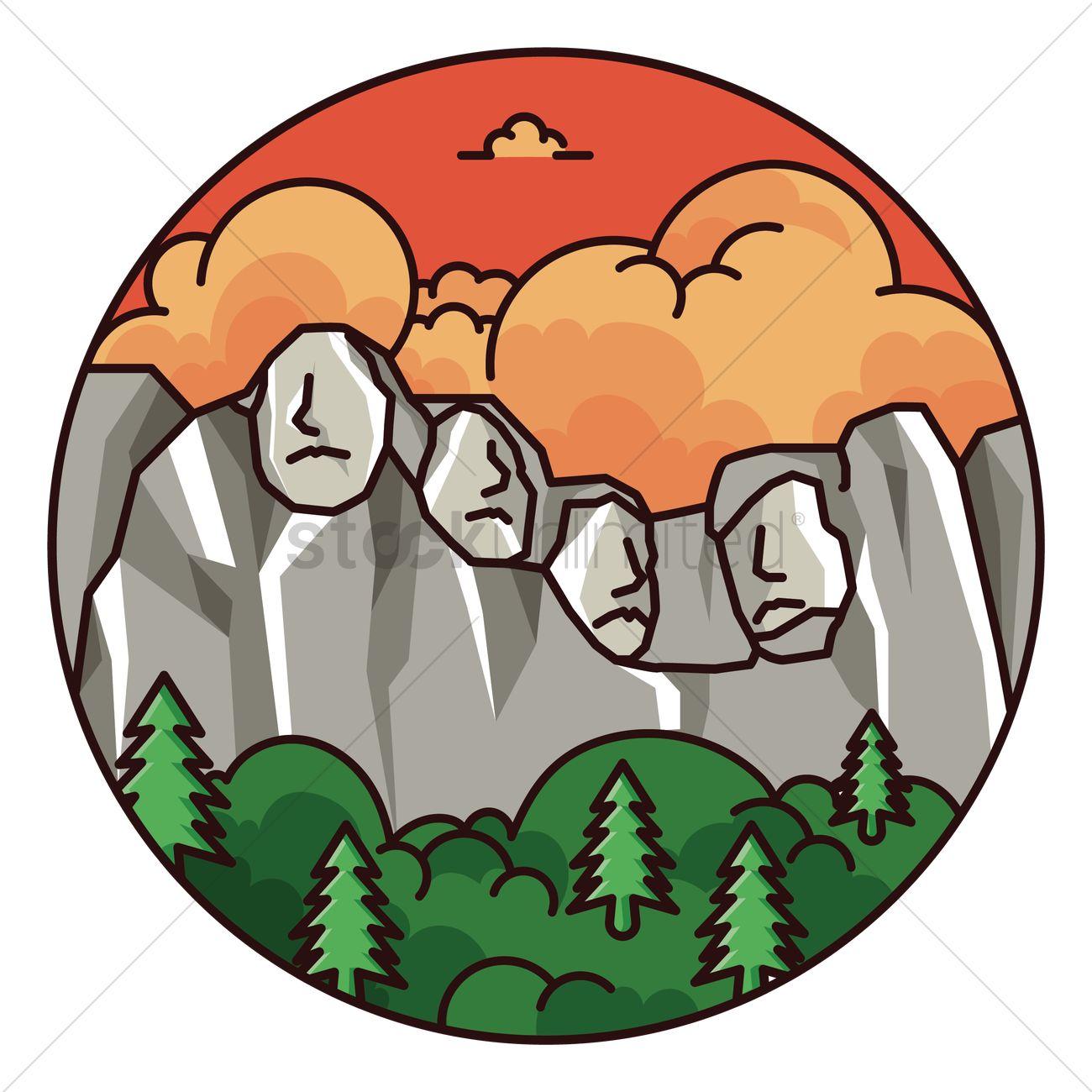 1300x1300 Mount Rushmore Vector Image