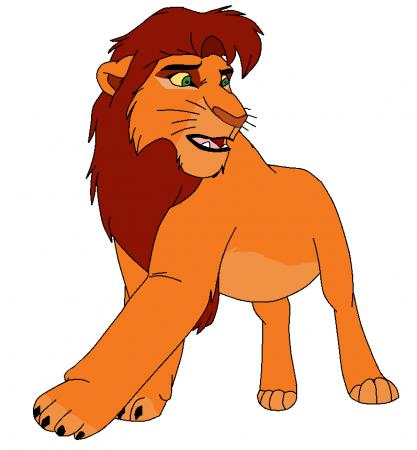 417x450 Mufasa Clipart Mad Lion