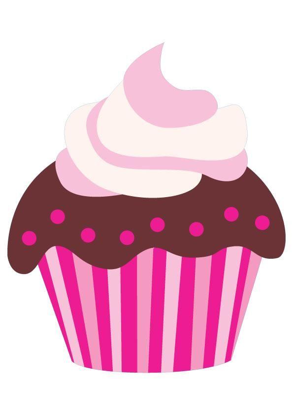 595x842 Cupcake Pictures Cartoon Cute Pink Cartoon Chocolate Cupcake Clip