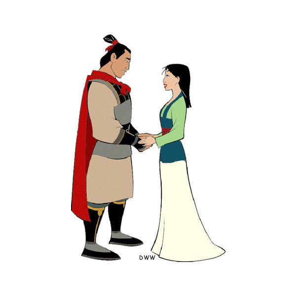 600x600 Mulan And Shang Clip Art Liked On Polyvore Featuring Home, Home