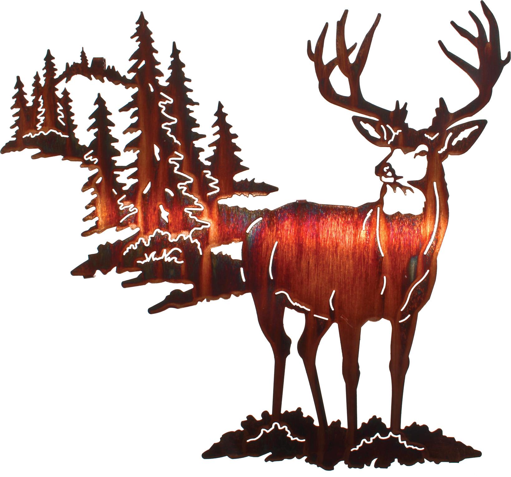 1638x1531 18 Alpine Mulley By Artist Neil Rose Deer Metal Art