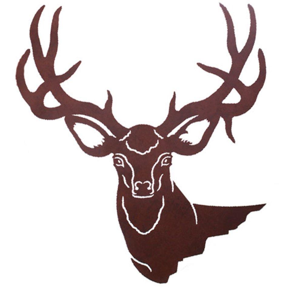 950x950 Mule Deer Head Clip Art Free Image