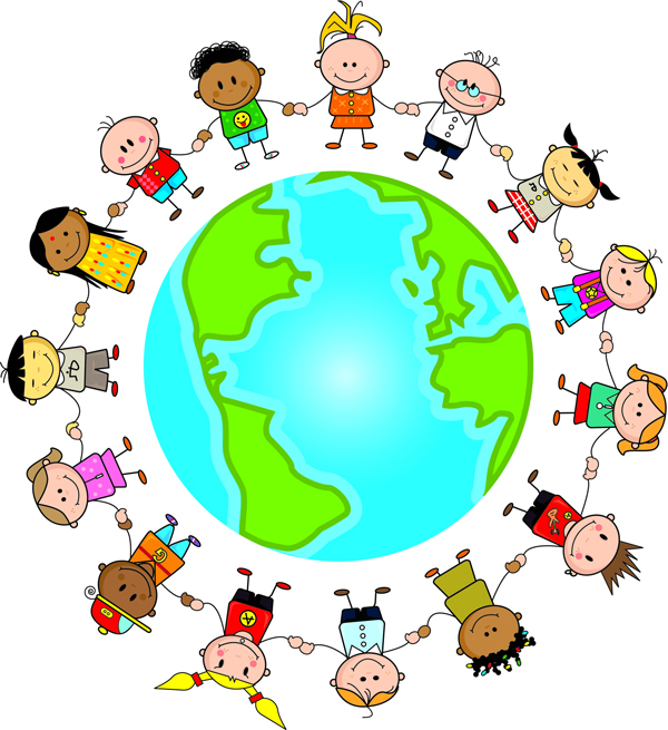600x655 Globe Clipart Child God