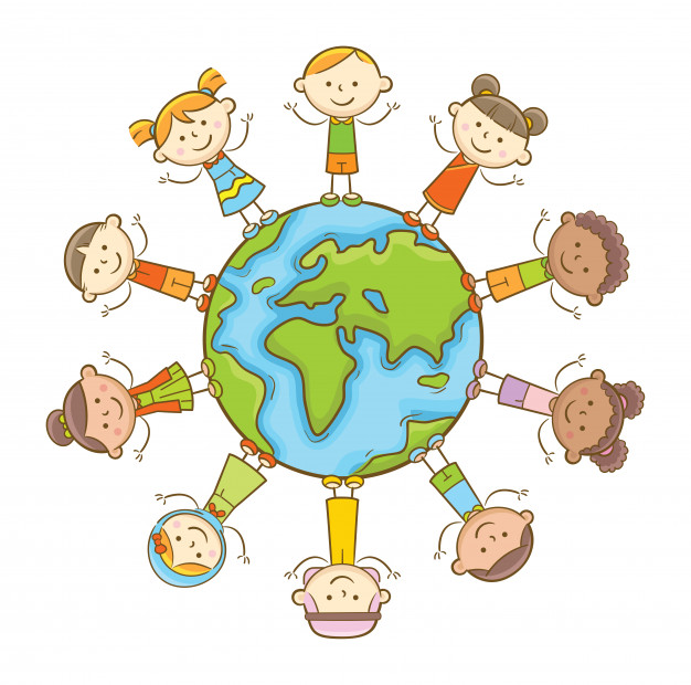 626x620 Multicultural Kids Vector Premium Download