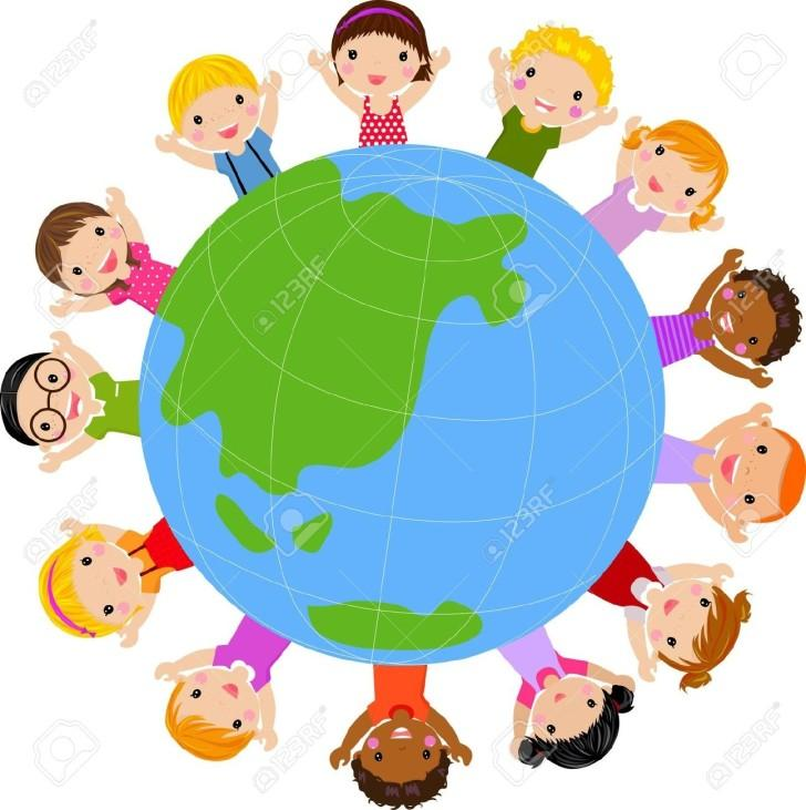 728x731 Multicultural World Clipart