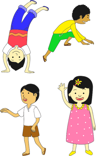 308x500 Multicultural Children Public Domain Vectors