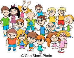 247x194 Multicultural Children Cartoon Illustration. Cartoon Vectors